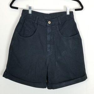 Vintage Bill Blass Black Mom Jean Shorts